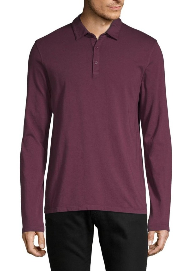 Vince Long-Sleeve Cotton Polo