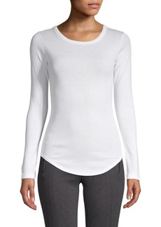 Vince Long-Sleeve Cotton Top