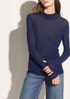Vince Long Sleeve Cotton Turtleneck