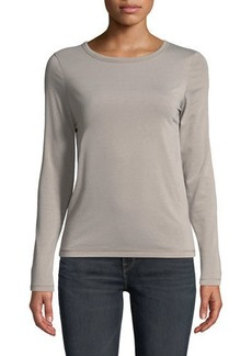 Vince Long-Sleeve Crewneck Top