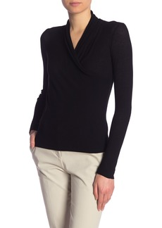 Vince Long Sleeve Front Wrap Blouse