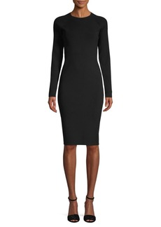Vince Long Sleeve Sheath Dress