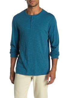 Vince Long Sleeve Slub Henley Shirt