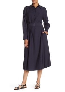Vince Long Sleeve Utility Shirt Dress