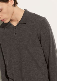 Vince Long Sleeve Wool Polo
