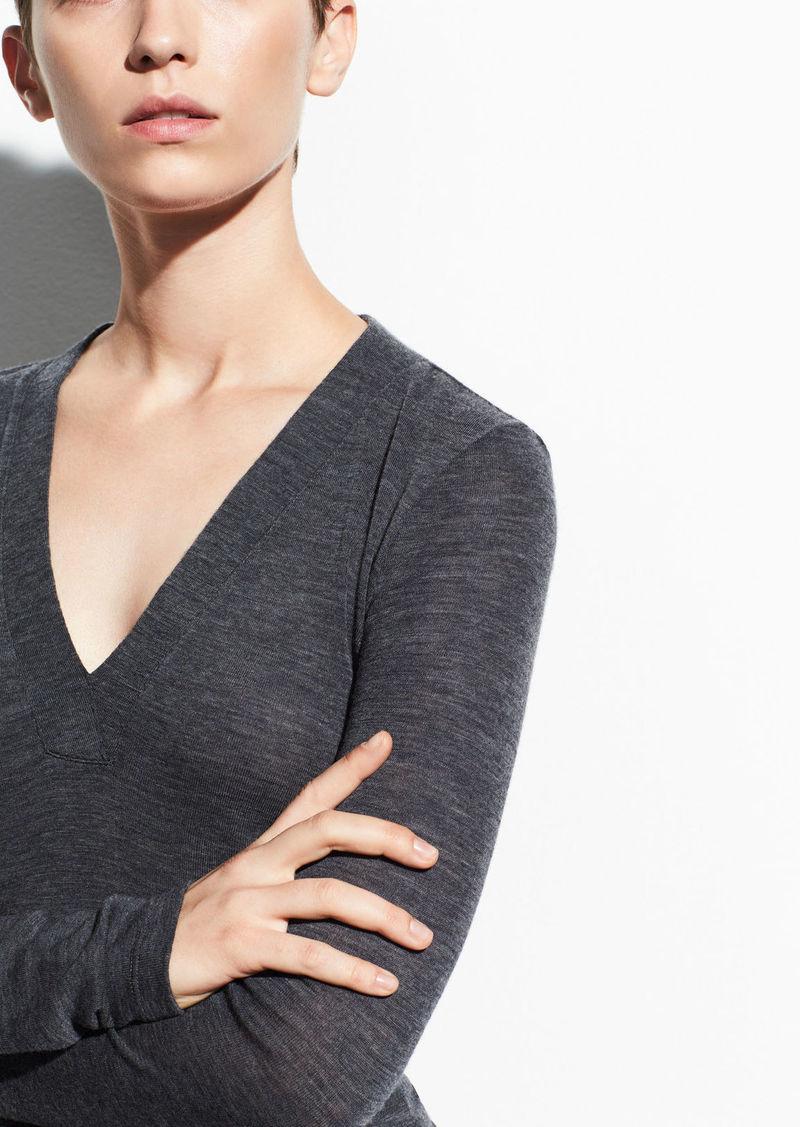 Vince Long Sleeve Wool V-Neck