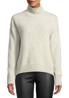 Vince Marled Knit Alpaca-Blend Turtleneck Sweater