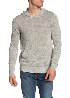Vince Marled Linen Pullover Sweater Hoodie