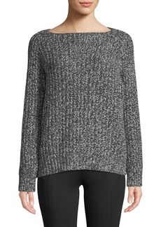 Vince Marled Raglan Wool-Cashmere Boat-Neck Sweater