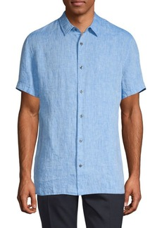 Vince Melrose Shirt-Sleeve Chambray Shirt