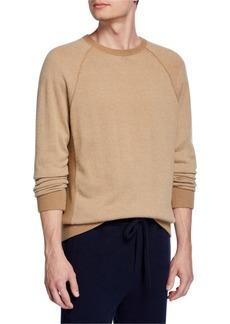 Vince Men's Birdseye Crewneck Pullover Sweater