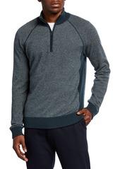 Vince Men's Birdseye Quarter-Zip Pullover Sweater