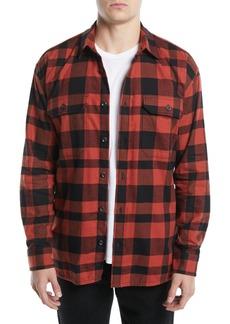 Vince Men's Button-Front Buffalo-Plaid Overshirt