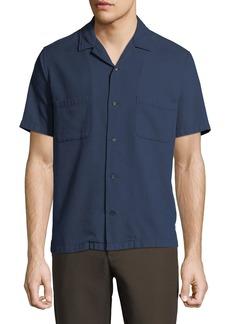 Vince Men's Cabana Textured-Weave Short-Sleeve Sport Shirt