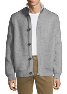 Vince Men's Cozy-Knit Bomber Jacket