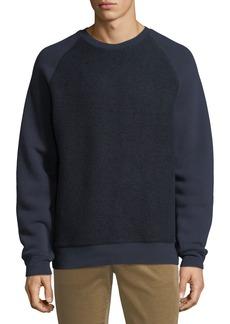 Vince Men's Crewneck Teddy Combo Sweatshirt