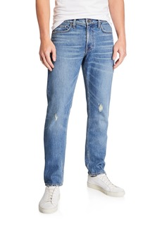Vince Men's Distressed Straight-Leg Denim Jeans