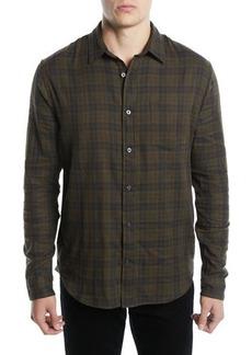 Vince Men's Double-Face Plaid Shirt