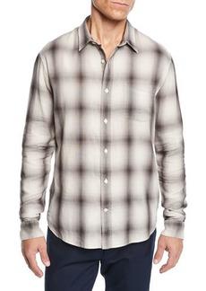 Vince Men's Double Face Plaid Shirt