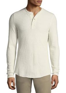 Vince Men's Double-Knit Henley Shirt