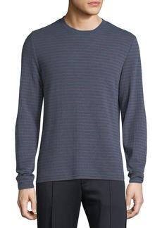 Vince Men's Double Knit Striped Crew Shirt