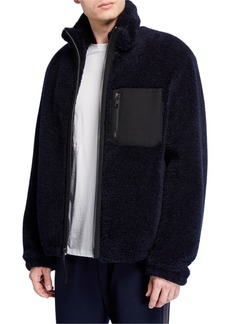 Vince Men's Faux Sherpa Zip-Up Jacket