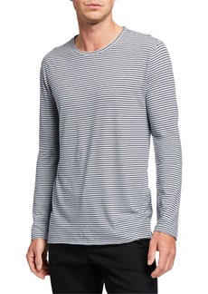 Vince Men's Feeder Striped Long-Sleeve T-Shirt