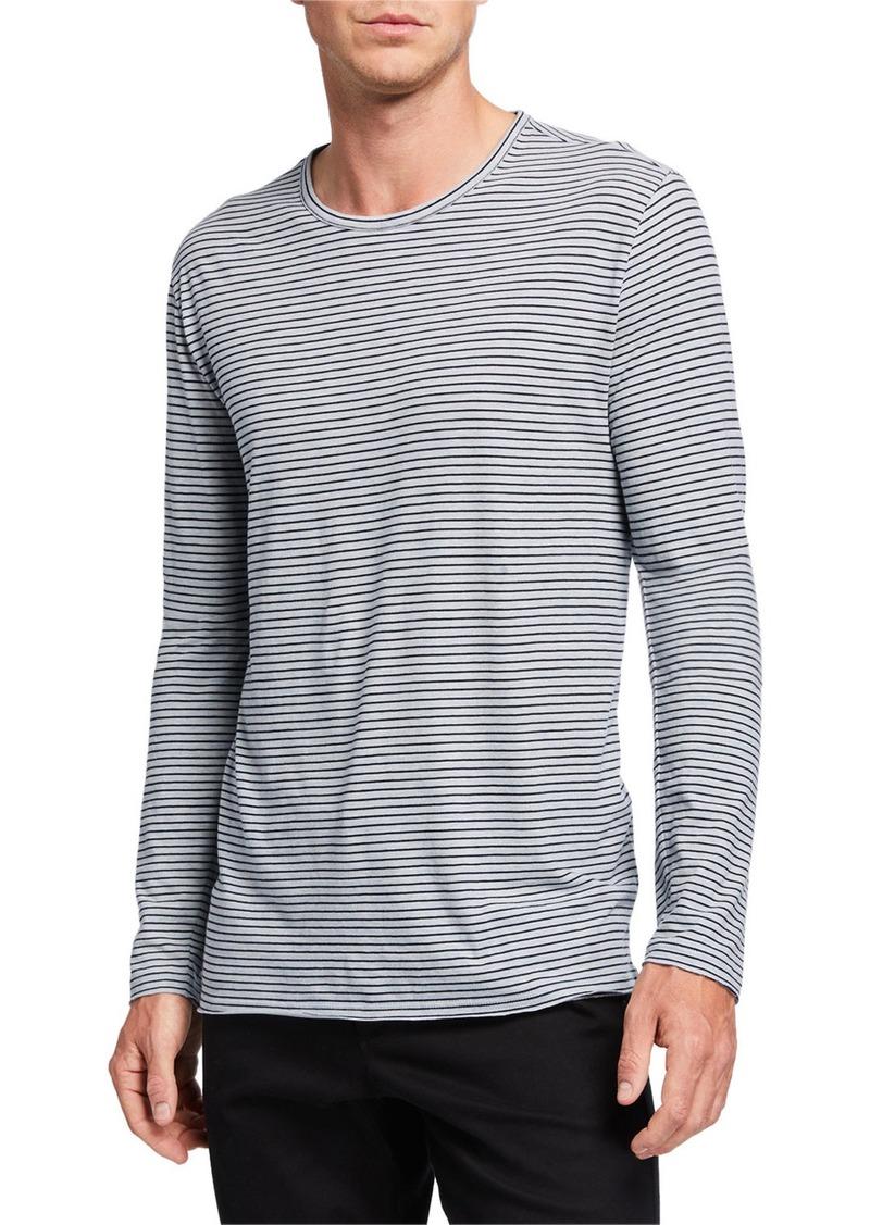 Vince Men's Feeder Striped Long-Sleeve T-Shirt