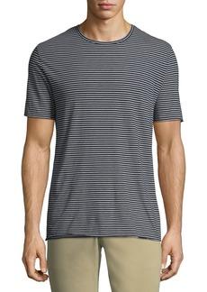 Vince Men's Feeder Striped Wool/Cashmere Crewneck T-Shirt