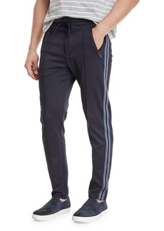 Vince Men's Front-Seam Track Trousers