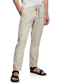 Vince Men's Hemp Straight-Leg Pull-On Pants
