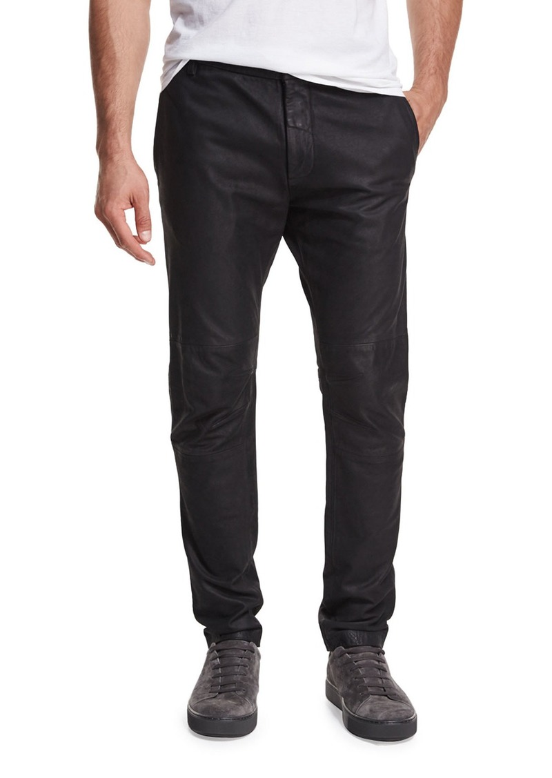 Vince Men's Leather Moto Pants