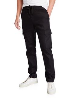 Vince Men's Linen-Blend Drawstring Cargo Pants