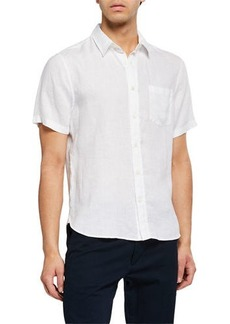 Vince Men's Linen Short-Sleeve Sport Shirt
