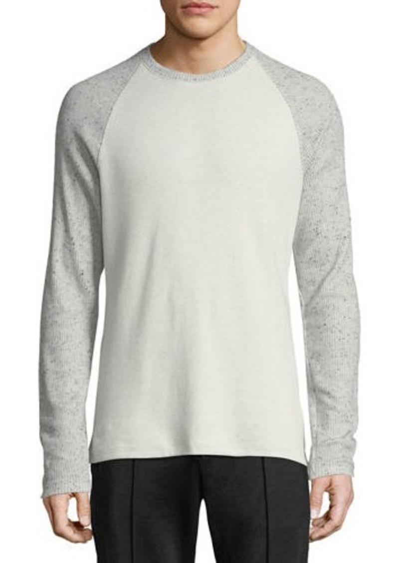 Vince Men's Long-Sleeve Crewneck Cotton-Blend T-Shirt