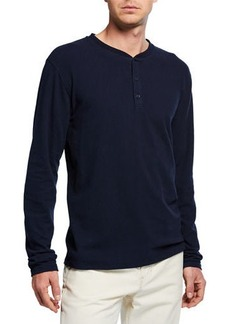 Vince Men's Long-Sleeve Henley T-Shirt