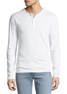 Vince Men's Long-Sleeve Raw Edge Henley Shirt