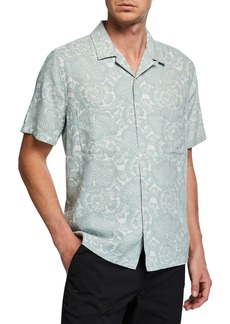 Vince Men's Lotus Leaf Cabana Shirt