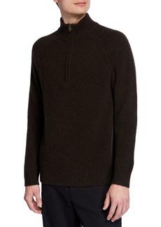 Vince Men's Quarter-Zip Yak/Merino  Sweater