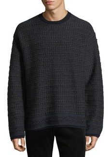 Vince Men's Reverse Fair Isle Crewneck Yak-Wool Sweater