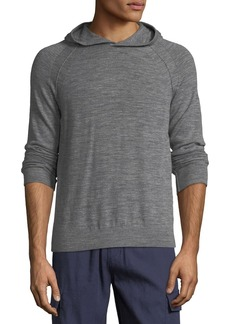 Vince Men's Seamed Heathered-Knit Pullover Hoodie