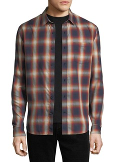 Vince Men's Shadow Plaid Long-Sleeve Shirt