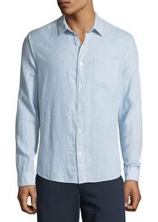 Vince Men's Solid Double-Face Sport Shirt