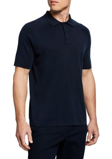 Vince Men's Solid Jersey Polo Shirt