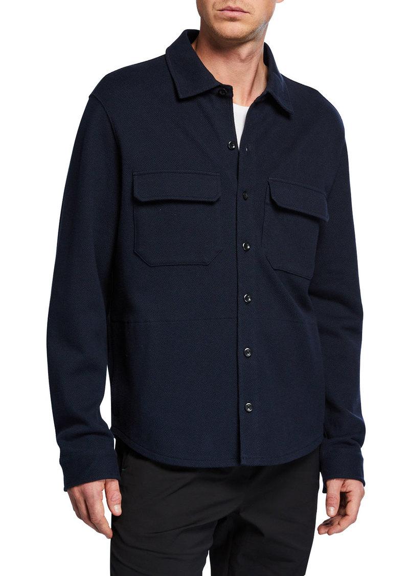 Vince Men's Solid Stretch-Poplin Shirt Jacket