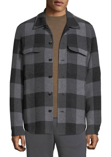 Vince Men's Splittable Plaid Overshirt