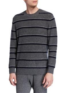 Vince Men's Striped Cashmere Crewneck Sweater