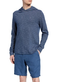 Vince Men's Striped Cotton Pullover Hoodie