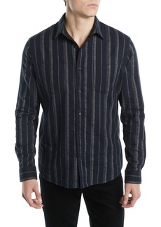 Vince Men's Striped Flannel Button-Down Shirt
