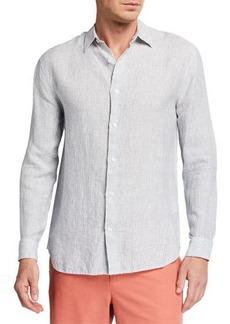 Vince Men's Striped Linen Sport Shirt